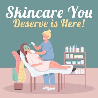 Cosmetology social media post mockup.