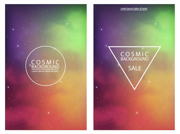 Cosmic background with abstract colors