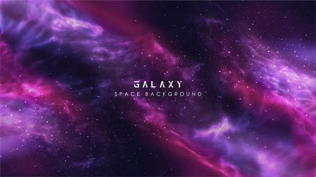 Cosmic gradient abstract space background