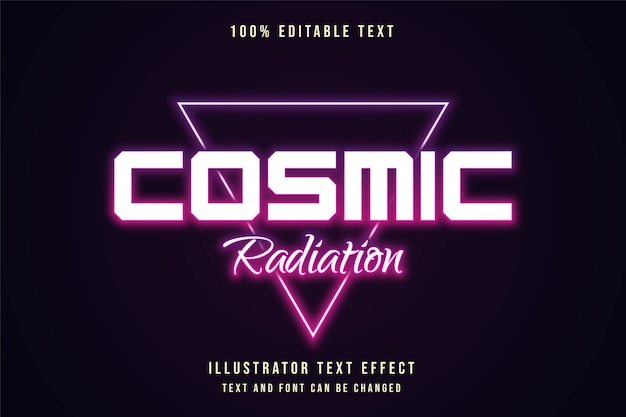 Cosmic radiation,editable text effect purple gradation neon text style
