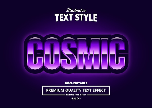 Cosmic text effect