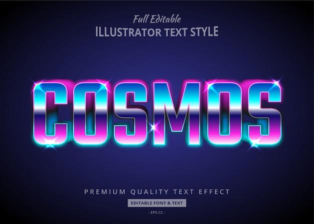 Эффект стиля текста cosmos retrowave