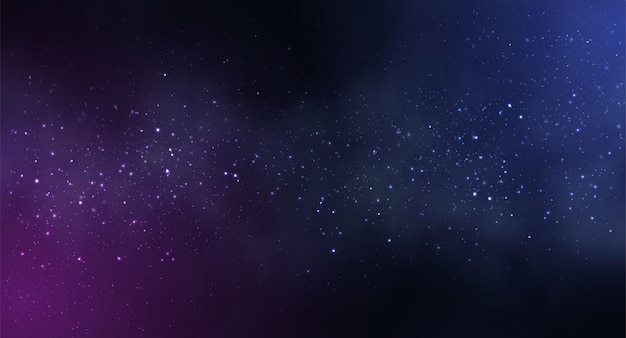 Cosmos space background with starry sky