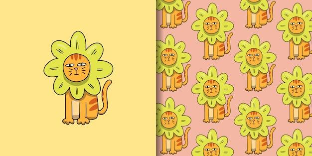 Cosplay cat sunflower