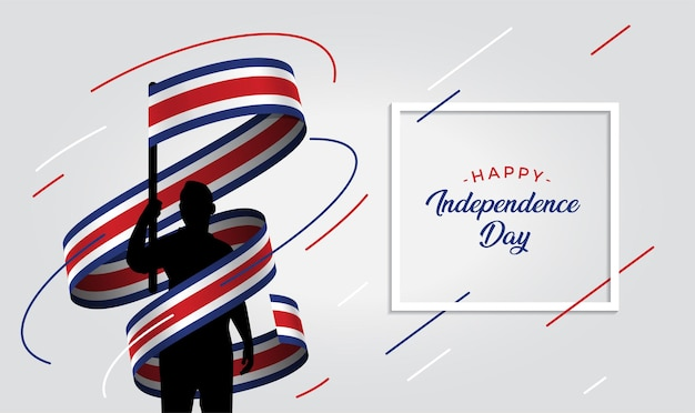 Costa rica independence day   illustration