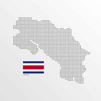 Costa rica map design
