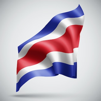 Costa rica, vector 3d flag isolated on white background