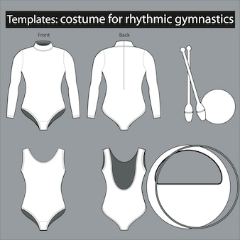 Costume template for rhythmic gymnastics