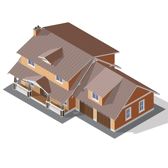 Cottage isometric vector