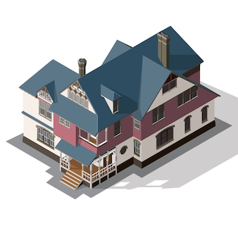Cottage isometric