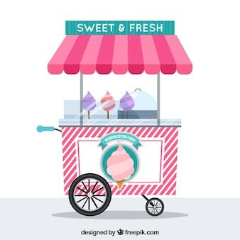 Cotton candy cart backround