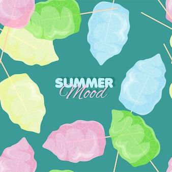 Cotton candy seamless pattern summer