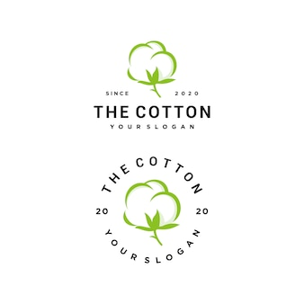 Cotton logo set