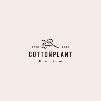 Cotton logo vector icon illustration download
