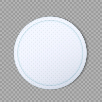 Cotton pads realistic icon. round soft layered disc hygiene sponge for cleansing skin, makeup remover, skincare and medicine. 3d vector illustration