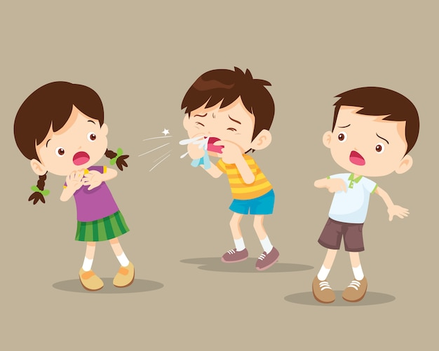 Coughing child to friend