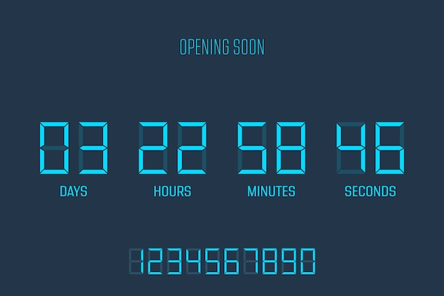 Coundown timer illustration isolated on background