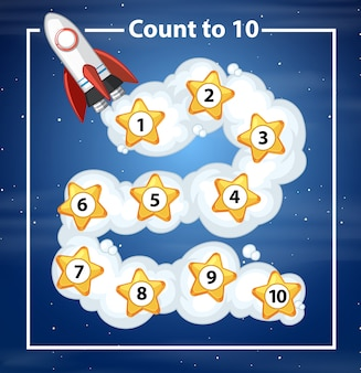 Count to 10 rocker background