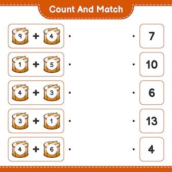 カウントして一致させ、ドラムの数を数え、正しい数と一致させます