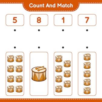 カウントして一致ドラムの数を数え、正しい数と一致させます