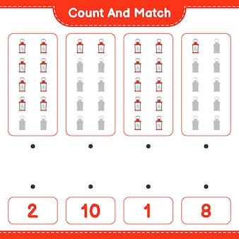 ランタンの数を数えて一致させ、正しい数と一致させます