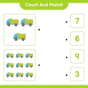 カウントして一致するローリーの数を数え、正しい数と一致する