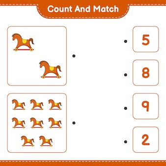 カウントして一致するロッキングホースの数を数え、正しい数と一致する