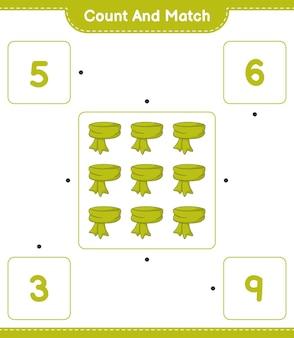 スカーフの数を数えて一致させ、正しい数と一致させます