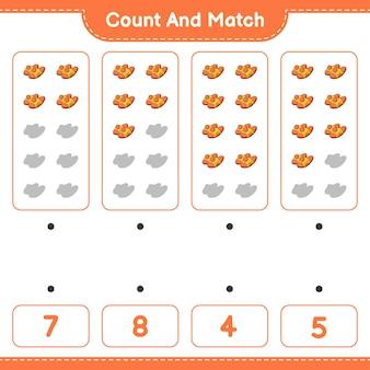 スリッパの数を数えて一致させ、正しい数と一致させます