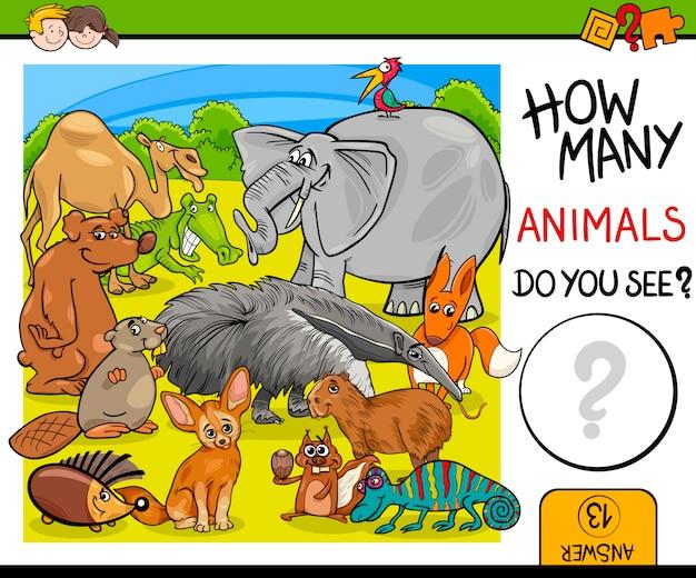 Подсчет животных для детей