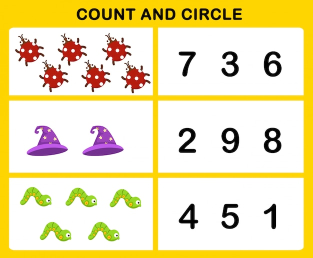 Count and circle illustration