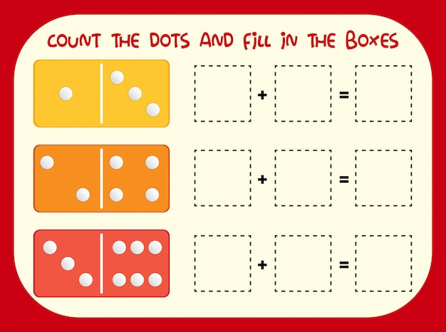 Count the dot and fill in the boxes
