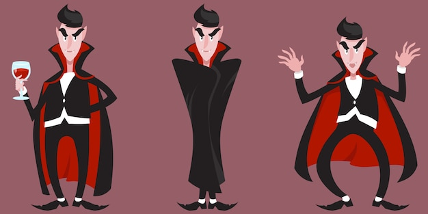 Count dracula in different poses.