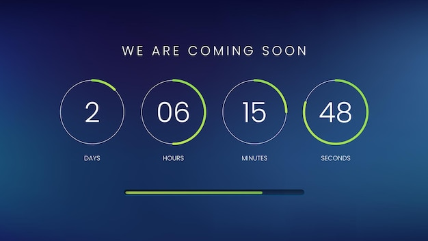 Countdown clock counter timer template for website
