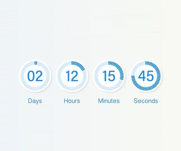 Countdown clock counter timer.