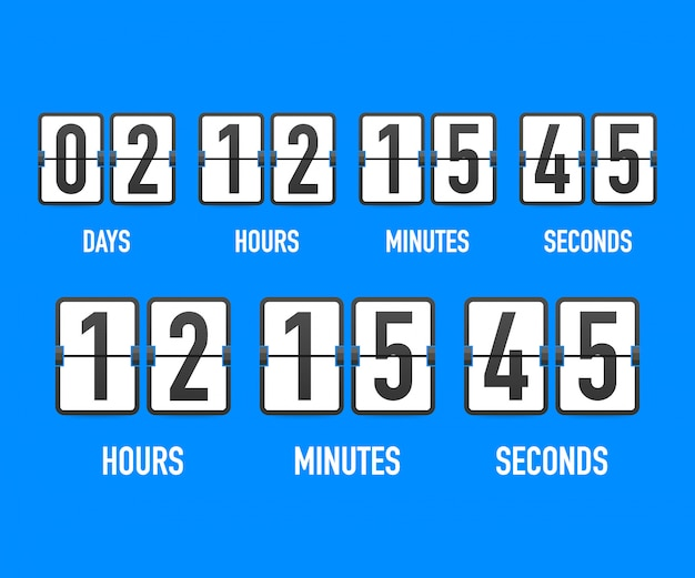 Countdown clock counter timer.