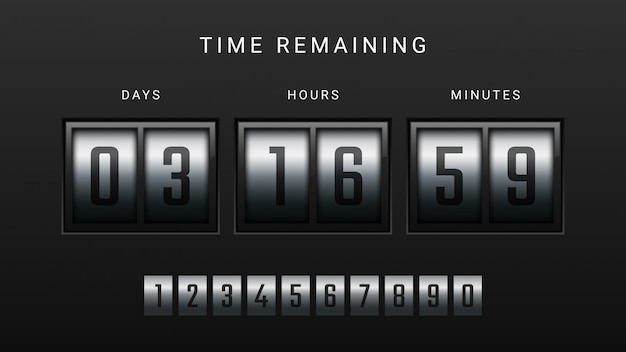 Countdown clock counter timer