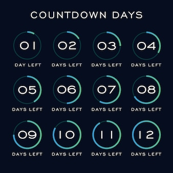 Countdown days template