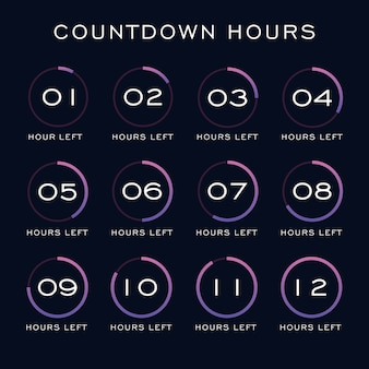 Countdown hours template