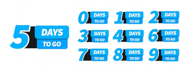 Countdown left days banner.