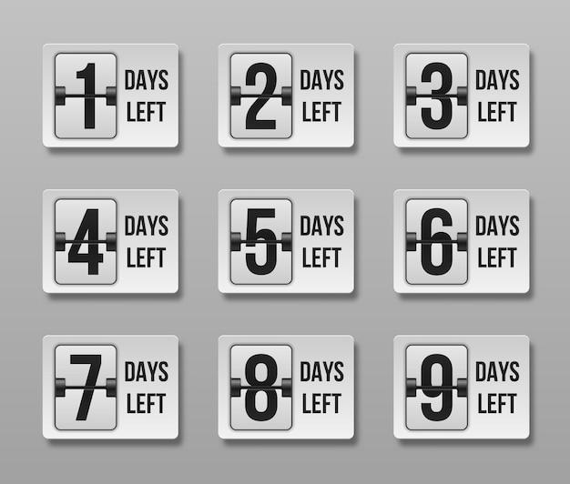 カウントダウンの残り日数。タイムセールを数えます。