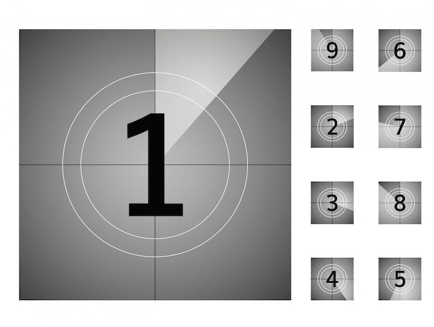 Countdown retro down counter