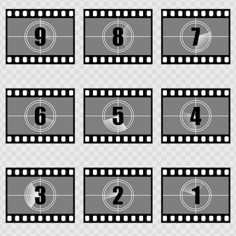Countdown Silent Film Opening Collections. Vintage Movie Countdown