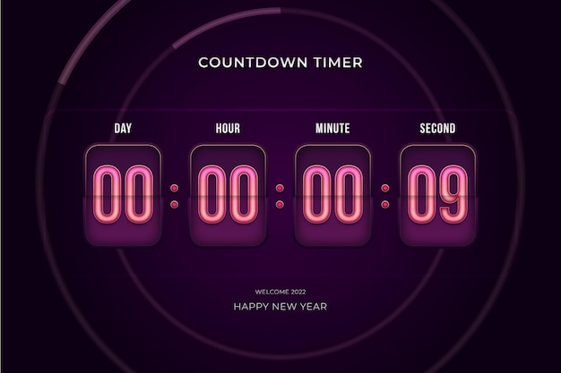 Countdown timer count day hour minute and second