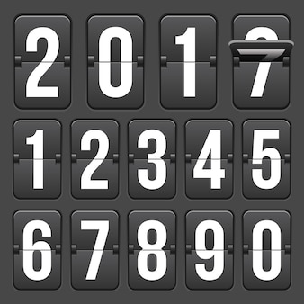 Countdown timer with numbers