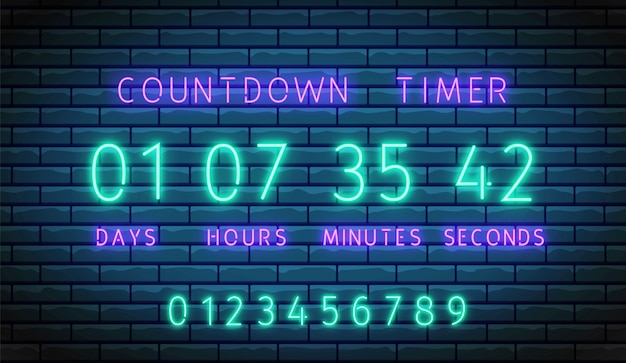 Countdown timer.