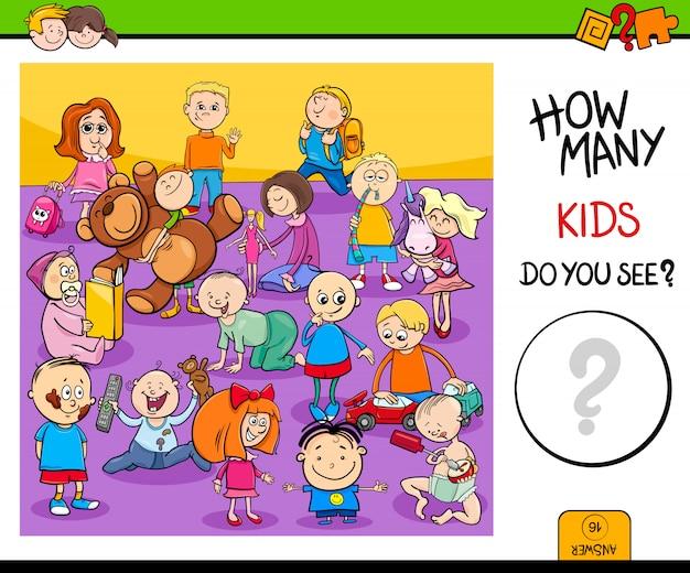 Подсчет детских символов образовательной игры