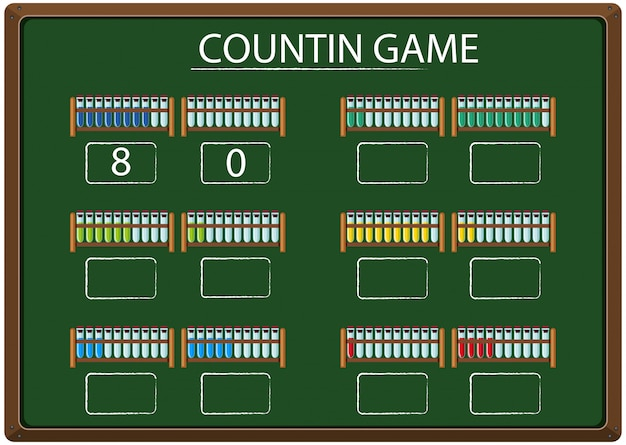 A counting game on chalkboard