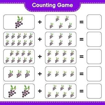 Counting game, count the number of elderberry and write the result.