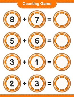 Counting game count the number of orange and write the result educational children game